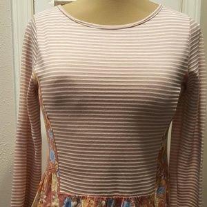 Like New POTTERS POT Knit LS Shirt Top Blouse  M-L